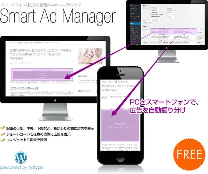 記事の途中や任意の場所に、広告コードを挿入できるWordPresプラグイン「Smart Ad Manager」