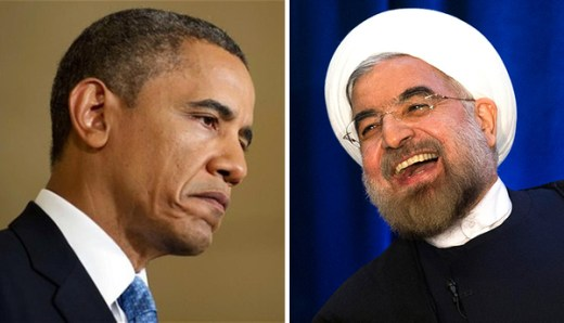 U.S. President Barack Obama (left). Iranian President Hassan Rouhani (right).