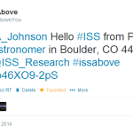 Yes –  THE @BadAstronomer (Phil Plait) has an ISS-Above