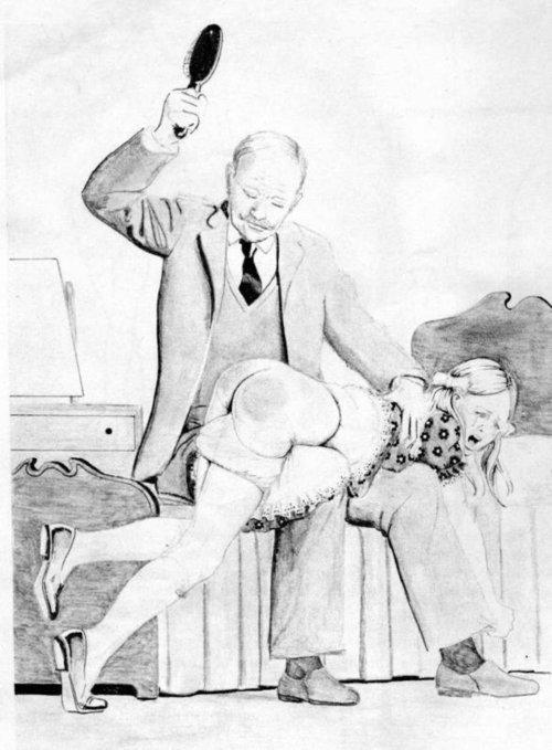 paula spanking drawings