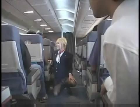 flight attendant masturbating