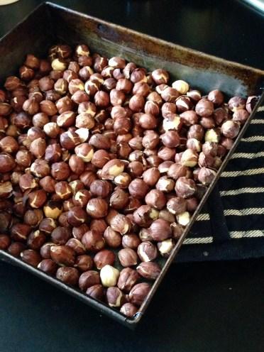 Roast hazelnuts