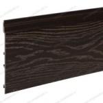 Фасадная доска ДПК, тёмно-коричневая тангенциальная