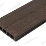Террасная доска из ДПК (Декинг), тёмно-коричневая радиальная
