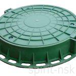 Люк канализационный полимеркомпозитный, зеленый
