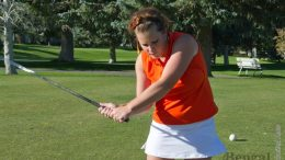 Jenna Sharp tees it up for the ISU women's golf team.