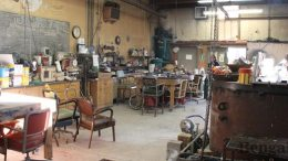 The sculpture studio is located close to Public Safety and is the classroom for Professor of Art Doug Warnock.