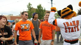 Benny the Bengal entertains students at Welcome Back Orange and Black