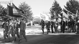 ISU ROTC color guard and community lead honor guard