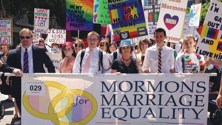 Mormons for Marriage Equality demonstration