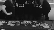 Four ladies of Alpha Xi Delta sorority