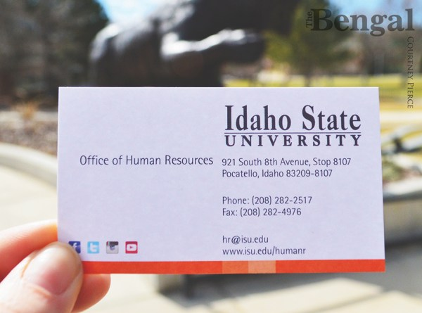 ISU Office of Human Resources business card.