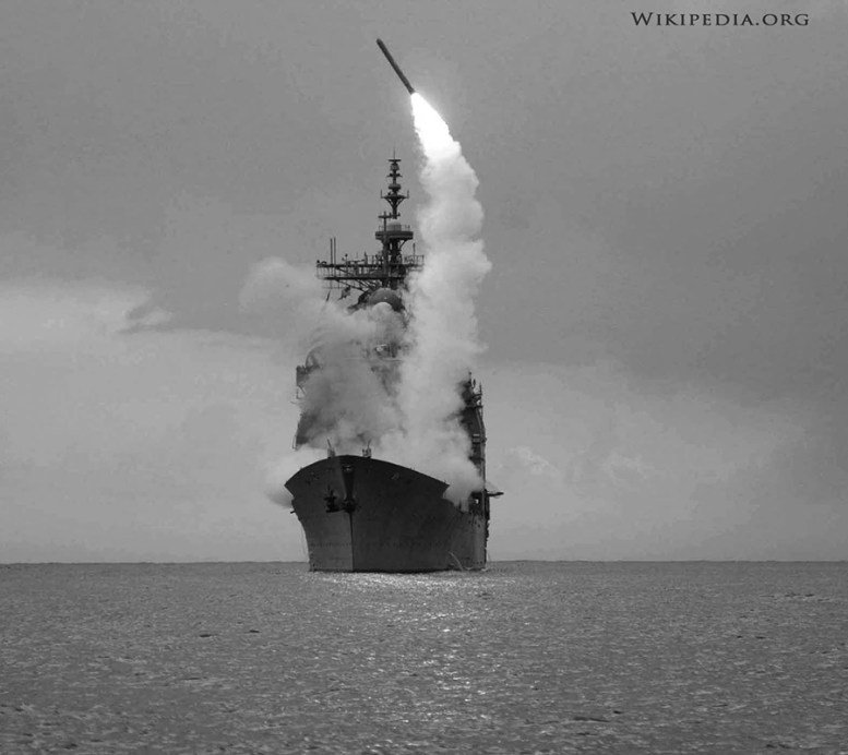 USS Cape St. George fires tomahawk missile