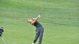 Kylie Martens golfing.