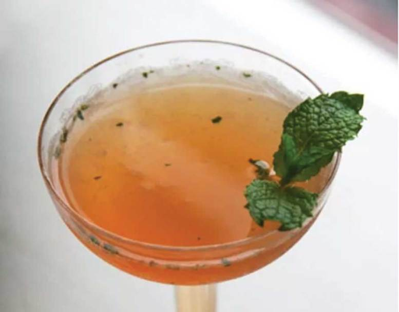 Apricot blossom cocktail
