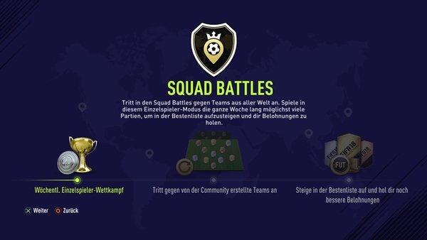 FIFA 18 FUT-Squad Battles (Im Menü)