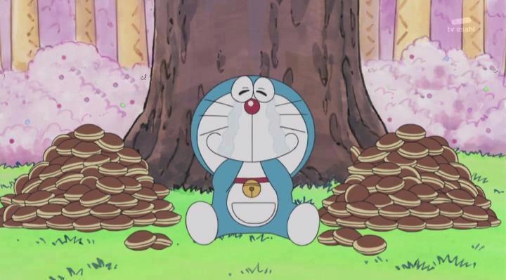 Dorayaki adalah kegemaran tokoh komik lucu jepang Doraemon