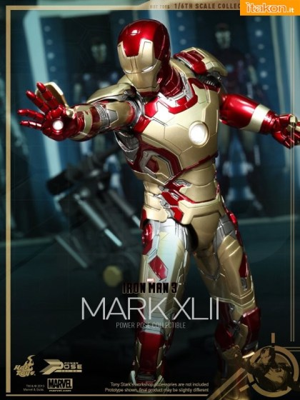 Iron Man 3 16th scale Power Pose Mark XLII Collectible Figurine (5)