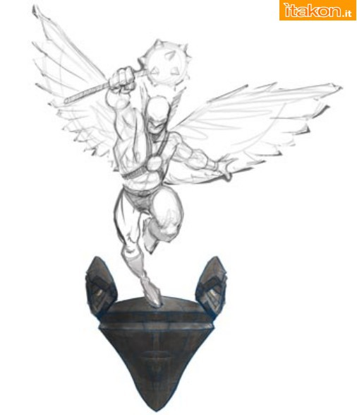 [Pop Culture Shock] DC Comics: Hawkman - Wall Statue  B62
