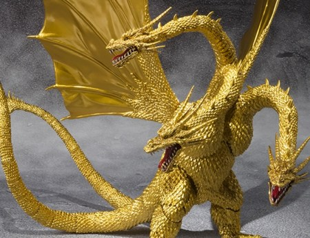 King Ghidorah - Gojira vs King Ghidorah - SH MonsterArts Bandai pics 20