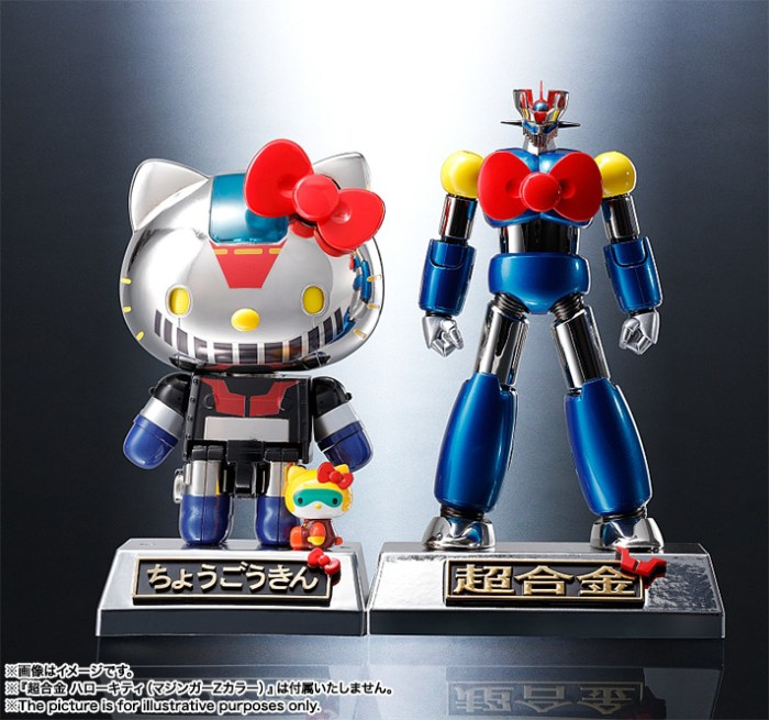 Hello Kitty Mazinger Z Color ver. e Mazinger Z Hello Kitty Color ver. (venduti separatamente)