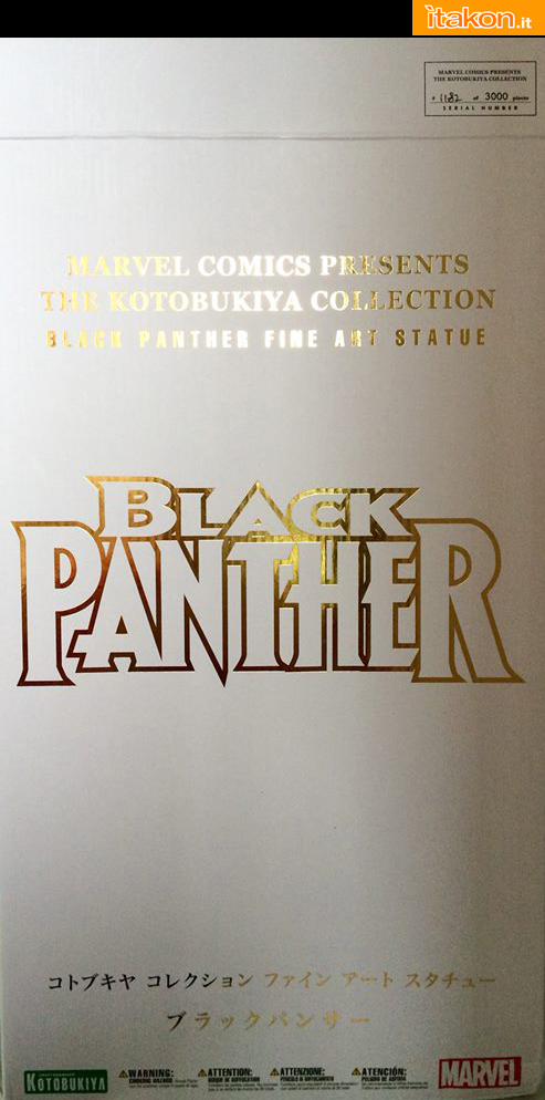 Marvel Comics Black Panther Fine Art Statue - Kotobukiya - Recensione Bossborot - Foto 02