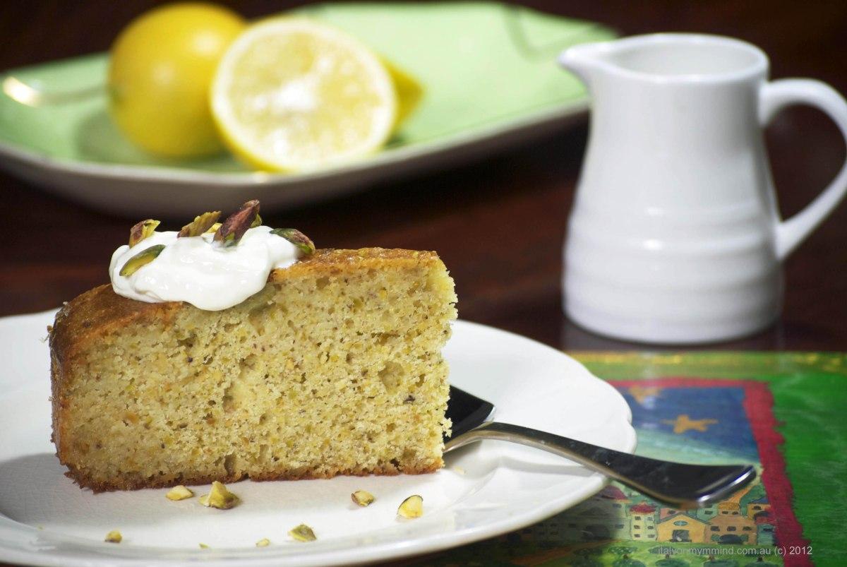 Lemon, semolina and pistachio syrup cake | italy on my mind