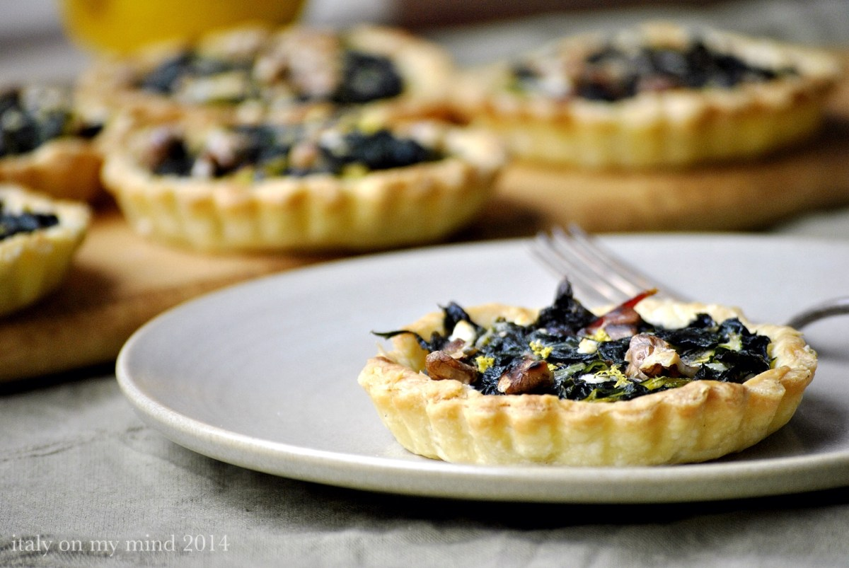 Balsamic onion, silver beet and walnut tartlets | italy on my mind