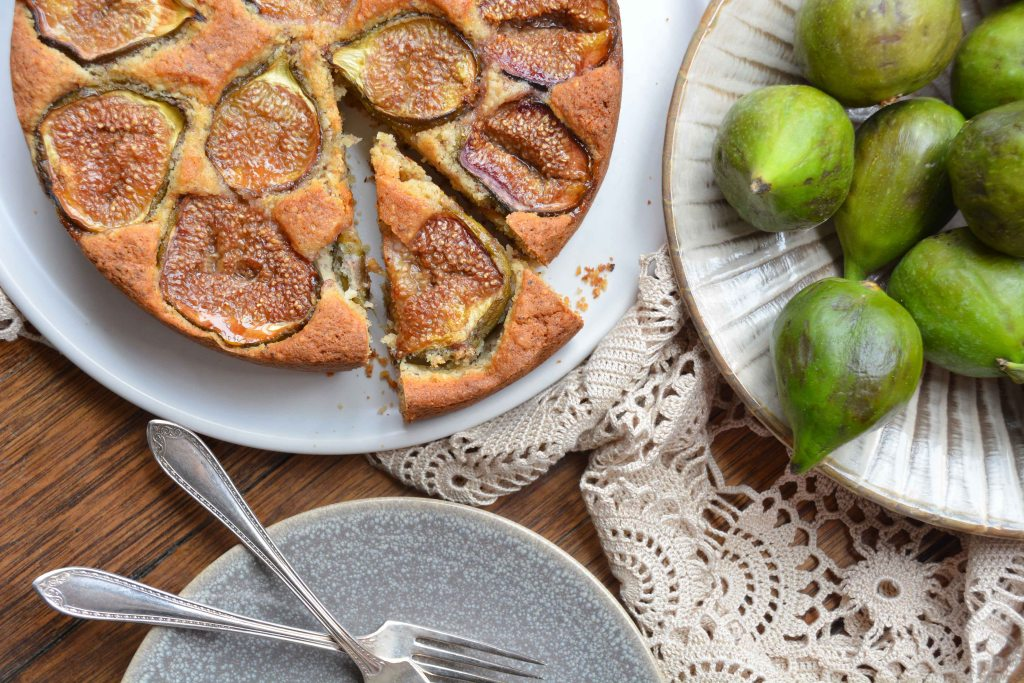 italy on my mind-rustic fig and hazelnut cake-aerial