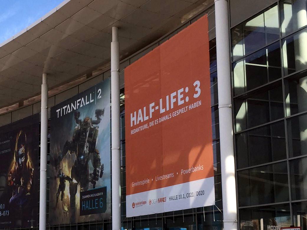 НаGamescom увидели плакат «Half-Life: 3»