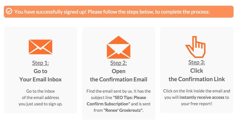 How to Create Email Opt-In Thank You Page