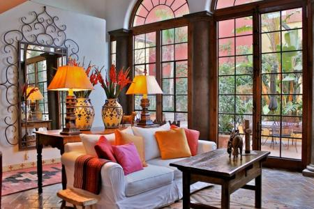 traditional mexican interior design living room for rustic