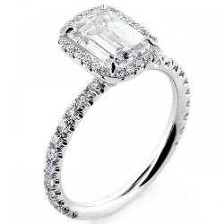 Small Crop Of Emerald Cut Engagement Rings