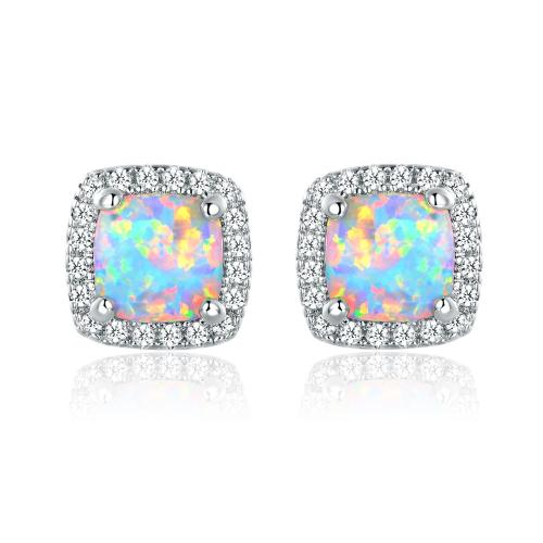 Medium Of Opal Stud Earrings