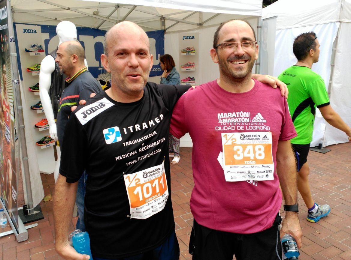Media maraton de Logroño - Dr. Antonio Puente y Dr. Gonzalo Mora - ITRAMED
