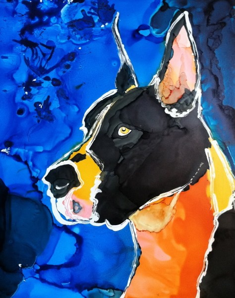Great Dane Day 3 of 30 Paintings In 30 Days.