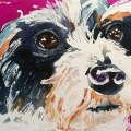 One Happily Adopted Dog Day 24 of 30 Paintings In 30 Days