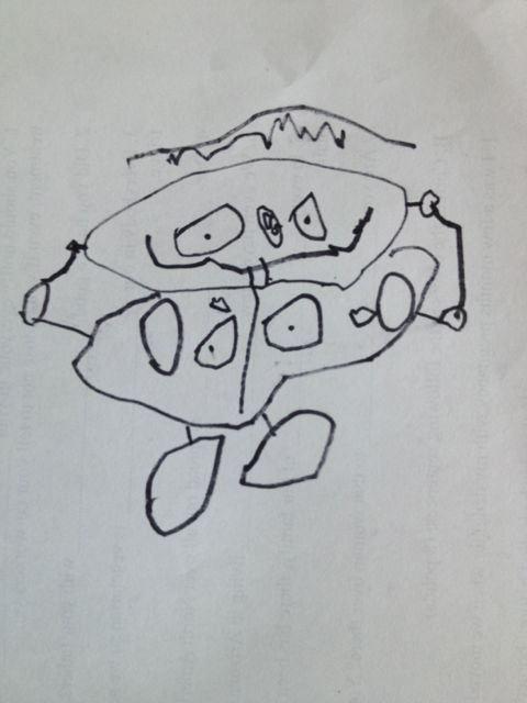 three-year-old self-portrait