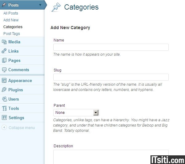 how to set a category for a wordpress page