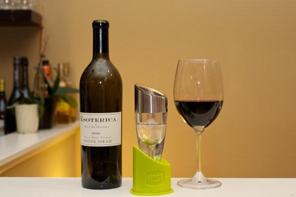 Host Adjustable Wine Aerator and Esoterica Petite Syrah