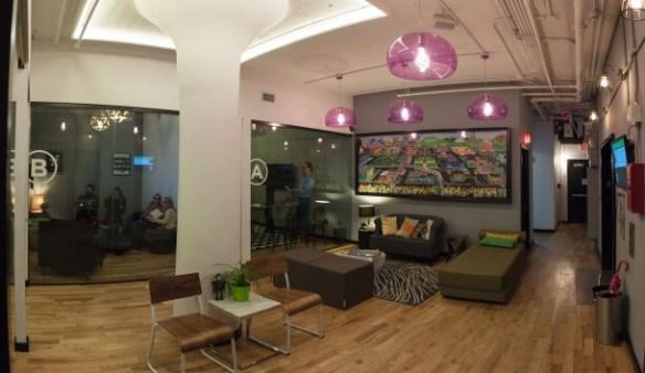 WeWork SoHo West Simpson's Art Lobby