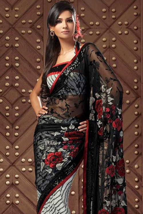 black-color-indian-saree-design-2012-2013