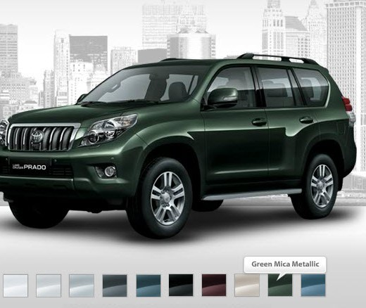 Latest-toyota-prado-2013-green-color-Price-picture