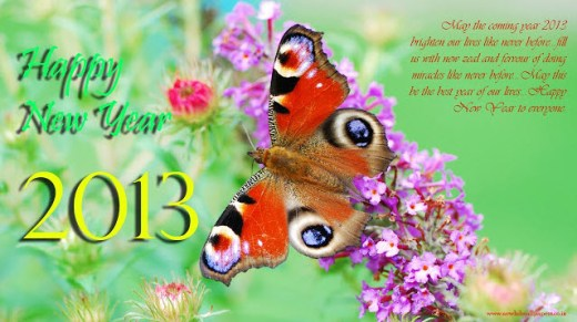 happy new year 2013 quotes wishes wallpaper