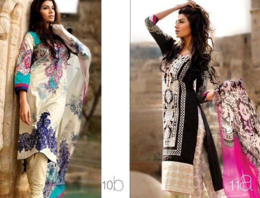 Sana Safinaz Summer Lawn Collection 2013 2014 for girls