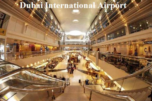Dubai International Airport inside-view