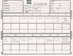 """That Boy John"" Track Sheet"