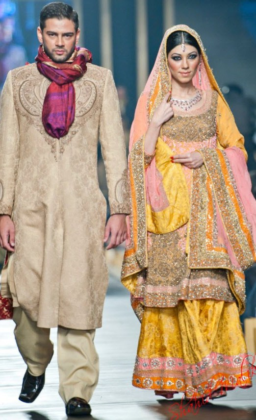 Bridal-dress-for Barat Function at night by HSY 2013 Picture
