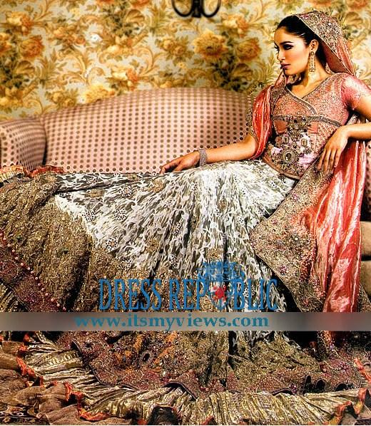 Pakistani indian fashion designer bridal lehenga 2013