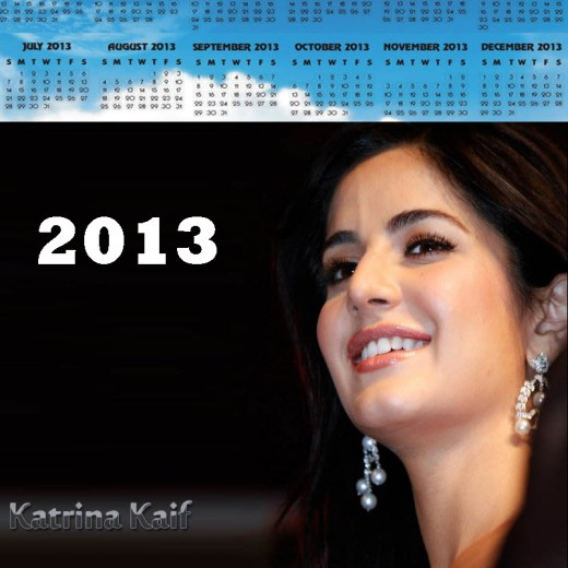 2013-calendar bollywood katrina-kaif actress picture wallpaper